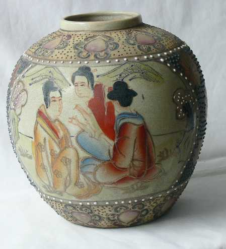 Original Antique Satsuma Japanese Vase